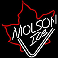 Molson Ice Mapleleaf Neon Sign