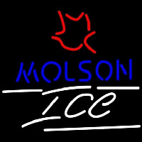 Molson Ice Small Maple Leaf Neon Sign
