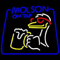 Molson On Tap Duck Neon Sign