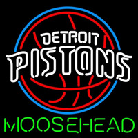 Moosehead Detroit Pistons NBA Beer Sign Neon Sign