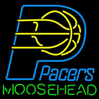 Moosehead Indiana Pacers NBA Beer Sign Neon Sign