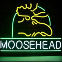 Moosehead Lager Maine Moose Neon Sign