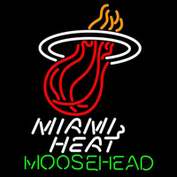 Moosehead Miami Heat NBA Beer Sign Neon Sign