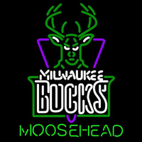 Moosehead Milwaukee Bucks NBA Beer Sign Neon Sign