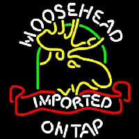 Moosehead Moose Imported On Top Neon Sign
