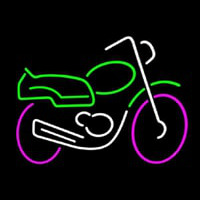 Motorcycle Multicolored Logo Neon Sign