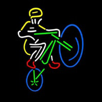 Mountain Biker Neon Sign