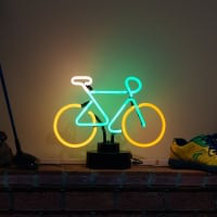 Moutain Bike Desktop Neon Sign