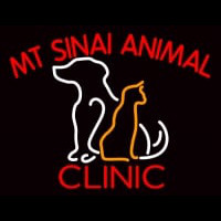 Mt Sinai Animal Clinic Neon Sign