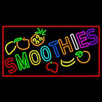 Multi Colored Double Stroke Smoothies Neon Sign