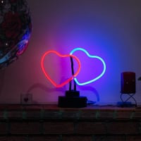 Multicolor Heart Desktop Neon Sign