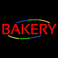 Multicolored Block Bakery Neon Sign