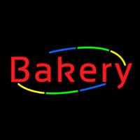 Multicolored Cursive Bakery Neon Sign