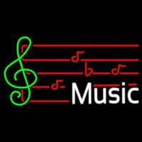 Music Note Neon Sign