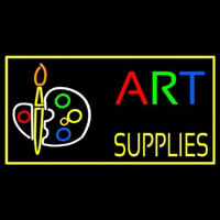 Muti Color Art Supplies With Palate Neon Sign