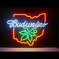 NEW BUDWEISER OHIO BUCKEYE Neon Sign