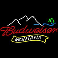 NEW Montana Mountain Budweiser bud light Neon Sign