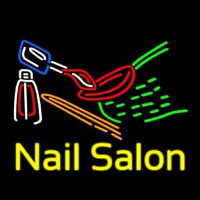 Nail Salon Logo Neon Sign