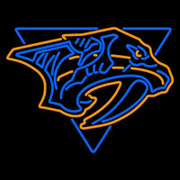 Nashville Predators Secondary 1998 99 2010 11 Logo NHL Neon Sign Neon Sign