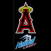 Natural Light Anaheim Angels MLB Beer Sign Neon Sign