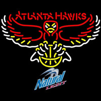 Natural Light Atlanta Hawks NBA Beer Sign Neon Sign