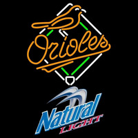 Natural Light Baltimore Orioles MLB Beer Sign Neon Sign