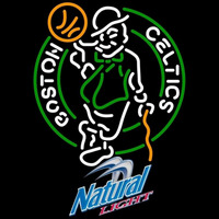 Natural Light Boston Celtics NBA Beer Sign Neon Sign