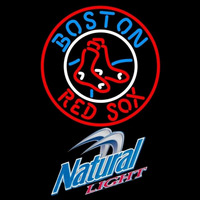 Natural Light Boston Red Sox MLB Beer Sign Neon Sign