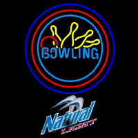 Natural Light Bowling Yellow Blue Beer Sign Neon Sign