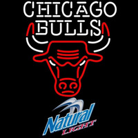 Natural Light Chicago Bulls NBA Beer Sign Neon Sign