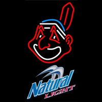 Natural Light Cleveland Indians MLB Beer Sign Neon Sign