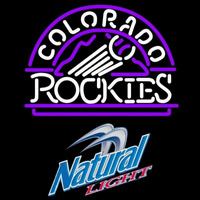 Natural Light Colorado Rockies MLB Beer Sign Neon Sign
