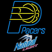 Natural Light Indiana Pacers NBA Beer Sign Neon Sign