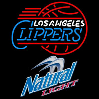 Natural Light Los Angeles Clippers NBA Beer Sign Neon Sign