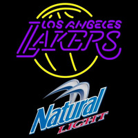 Natural Light Los Angeles Lakers NBA Beer Sign Neon Sign