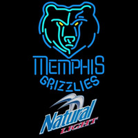 Natural Light Memphis Grizzlies NBA Beer Sign Neon Sign