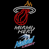 Natural Light Miami Heat NBA Beer Sign Neon Sign
