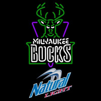 Natural Light Milwaukee Bucks NBA Beer Sign Neon Sign
