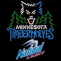 Natural Light Minnesota Timberwolves NBA Beer Sign Neon Sign