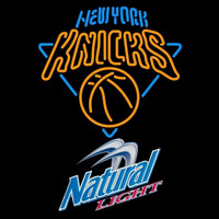 Natural Light New York Knicks NBA Beer Sign Neon Sign