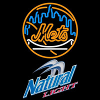 Natural Light New York Mets MLB Beer Sign Neon Sign