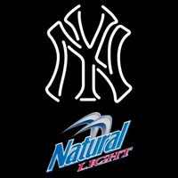 Natural Light New York Yankees White MLB Beer Sign Neon Sign