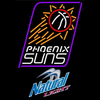Natural Light Phoenix Suns NBA Beer Sign Neon Sign