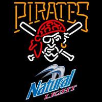 Natural Light Pittsburgh Pirates MLB Beer Sign Neon Sign