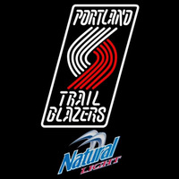 Natural Light Portland Trail Blazers NBA Beer Sign Neon Sign