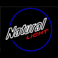 Natural Light Round Neon Sign