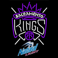 Natural Light Sacramento Kings NBA Beer Sign Neon Sign