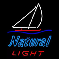 Natural Light Sailboat Neon Sign