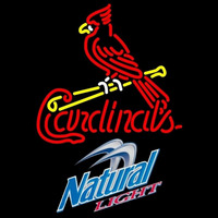 Natural Light St Louis Cardinals MLB Beer Sign Neon Sign