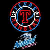 Natural Light Texas Rangers MLB Beer Sign Neon Sign